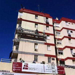 reformas y pintura de fachadas de edificios y viviendas en sevilla trabajos verticales
